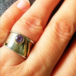 One-of-a-kind Artisan crafted amethyst ring